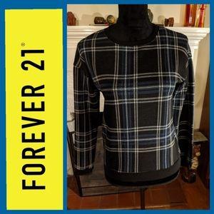 Forever 21 plaid sweatshirt style